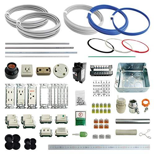 電材王 第二種電気工事士技能試験 練習材料 セットA (全13問 電線1回分+配線器具) 2021年度版