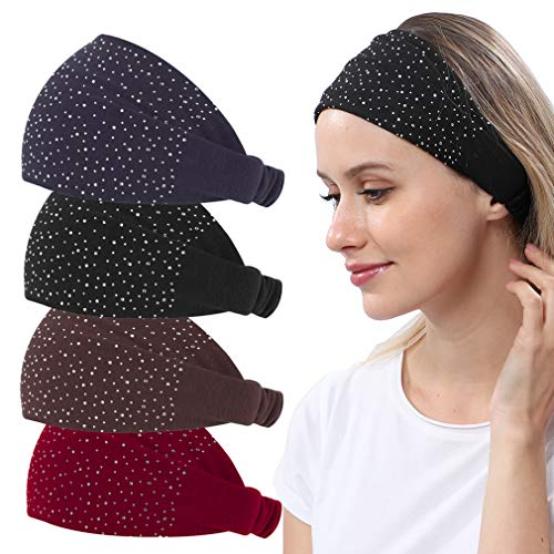 4 Pack Womens Yoga Headbands Bandana $7.79(40% Off after CODE)