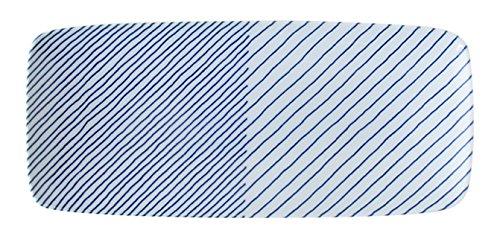 波佐見焼 白山陶器 重ね縞 長焼皿 25×11×3cm haku-lsq-ksn