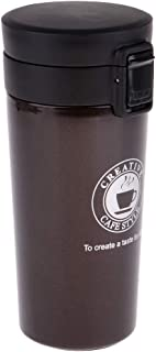 Prettyia Insulated Travel Mug Outdoor Sports Water Bottle Double Wall Vacuum Coffee & Milk Cup Leak-Proof and Keeps Drinks Hot or Cold