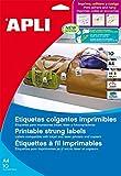 APLI 11947 - Etiquetas colgantes imprimibles 36,0 x 53,0 mm 10 hojas