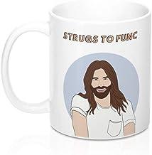 CrossLove - Jonathan Van Ness Strugs To Func Mug - Queer Eye, Queer Eye Merch, JVN gift, Funny Mug, Funny Gift -11oz Ceram...