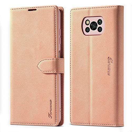 ZHIWEI Das tragbare Telefon Tasche Brieftasche Fall Telefonabdeckung für Xiaomi Poco X3 NFC Matte Magnetische horizontale Flip Ledertasche mit Halter & Kartenschlitze & Bilderrahmen Schutzhülle