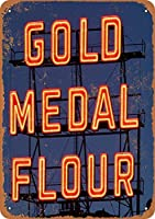 金メダル粉 金属板ブリキ看板警告サイン注意サイン表示パネル情報サイン金属安全サイン
