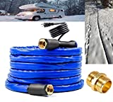 H&G lifestyles Heated Water Hose for RV Outdoor Furniture 1/2' Inner Diameter Self-Regulating 12 ft Withstand Temperatures Down to -40°F
