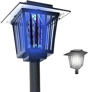 【AZUCK】新型 2way 電撃殺虫器 LEDソーラーライト 防水 ガーデンライト (虫退治 誘蛾灯 UV光源吸引式殺虫器 自動点灯) 日本語説明書 & 1年保証付き …