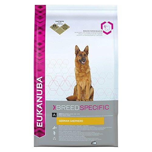 Eukanuba Premium hondenvoer voor Duitse herderhonden, gedroogd voer met kip, verschillende Maten., 12 kg, 12 Kg
