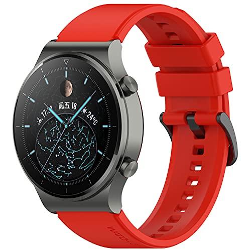 Keweni Correa Compatible con Huawei Watch GT2 Pro, Pulsera de Repuesto de Ajuste Rápido de Silicona de 22 mm para Honor Watch Magic / Honor GS Pro / Huawei GT2 46mm