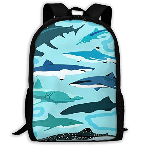 Homebe Mochila Escolar Fish of The Undersea World 3D para Adultos al Aire Libre