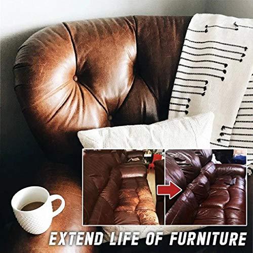 Karrychen Reparaturset für Leder und Vinyl - Möbel, Couch, Autositze, Sofa, Jacke, Geldbörse, Weiß