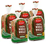 100% Whole Wheat Bread Sliced - 5 Pack - 16 oz per Loaf | Delicious Sandwich Bread | Kosher Bread | Dairy & Nut Free | 2-3 Day Shipping | Stern's Bakery (5 Pack)