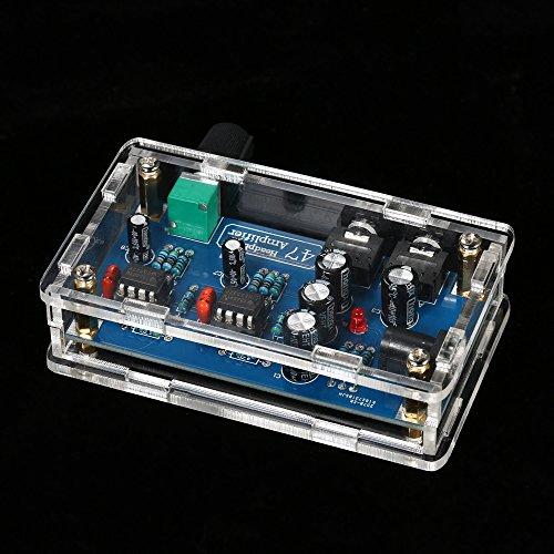 47 HIFI NE5532 Kopfhörerverstärker DIY PCB AMP Kit Mit Transparent Fall Einzigen Netzteil DC12~18 V