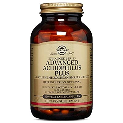 Solgar Advanced Acidophilus Plus Vegetable Capsules - Pack of 120