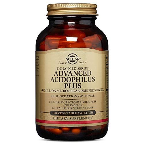Solgar Advanced Acidophilus Plus Vegetable Capsules, Pack of 120