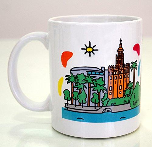DONSOUVENIR Taza MUG Sevilla Torre del Oro Y Giralda
