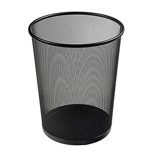 Withou 11 litros Pequeña Malla metálica Basura de Papel Cesta de Papel Iron Net Clean Basura de Basura Redonda de Basura, Adecuado para Familia, Cocina.