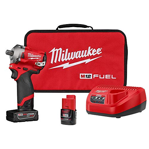 """Chave de Impacto 1/2"""" 12V Fuel M12 Milwaukee 2555P-22 A Bateria - 2555P-22"""