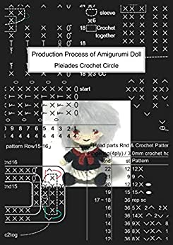 Production Process of Amigurumi Doll: あみぐるみ少女の制作工程 by [Pleiades Crochet Circle]