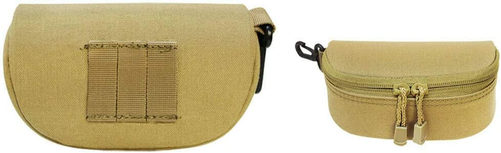 TAN MOLLE Sunglasses Eyeglasses Case Padded Soft Lining Double Zipper -