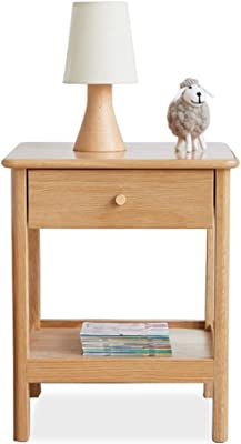 FENHG Drawer Bedside Table,Cherry Bedside Table,Solid Wood Bedside Table,Antique Style Home Side Table,Bedroom Locker (Size : Style 1)