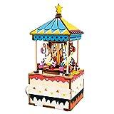 オルゴール オルゴール レトロ 音楽ボックス 装飾 DIY 結婚式 誕生日 プレゼント ミュージックボックス LCLJP (Color : AM304, Size : フリー)