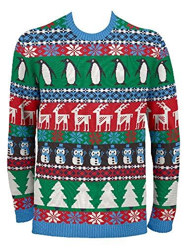 Brittiska jultröjor herr komisk pingvin jul eko-jultröja