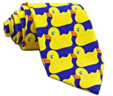 men's funny ducky tie, yellow, large