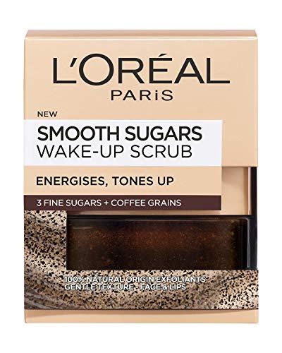 L'Oreal Paris Smooth Sugar Wake-Up Coffee Gesichts- und Lippenpeeling, 50 ml