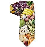 Corbata Corbatas divertidas Verduras Comida vegana Fruta Moda Corbatas amplias para hombres Adolescentes