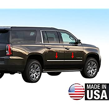Amazon Com Made In Usa Compatible With 2015 2020 Chevy Suburban Gmc Yukon Xl Body Side Molding Trim Factory Style 4pc Automotive