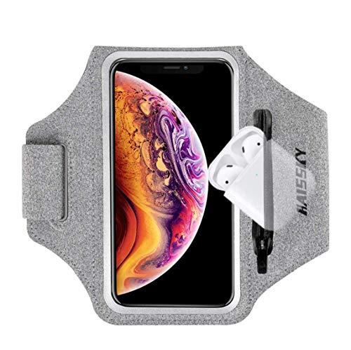 "Guzack Brazalete deportivo para iPhone XR/XS/8 Plus/7 Plus,Samsung S9/S8/S7, Huawei P20 (hasta 6.8"") a prueba de sudor + banda reflectante, brazalete deportivo para correr, gimnasio, al aire libre"