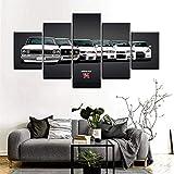 ELLCDRJ Prints on Canvas Painting Print Modular Pictures Artwork 5 Pieces Nissan Skyline GTR Car Paintings Home Decor Wall Art Decorative Poster (ell104)