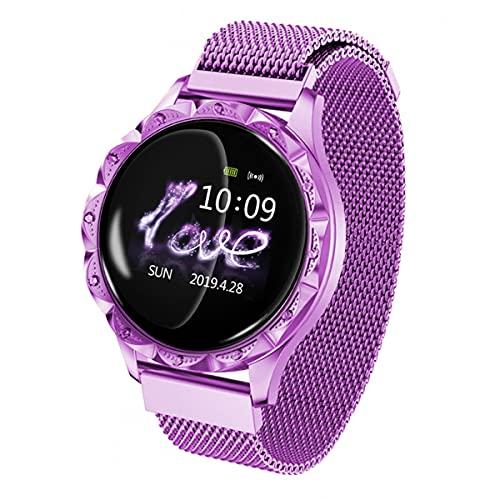 TTSLVS Relojes Inteligentes para Mujeres Reloj Inteligente de Salud y Estado físico Ip67 Relojes Inteligentes a Prueba de Agua, Reloj Inteligente para teléfonos Android e iOS,Púrpura