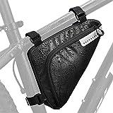 Lukovee Fahrradtasche Rahmen wasserdicht -Triangle Bag Fahrradaufbewahrung Rahmentasche, wasserdicht Radfahren Pack-On-Satteltasche Fahrradzubehör Werkzeug für Alle Fahrräder(Kapazität von 1.5 hat)