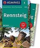 KOMPASS Wanderführer Rennsteig: Wanderführer mit Extra-Tourenkarte 1:50.000, 9 Etappen, GPX-Daten zum Download