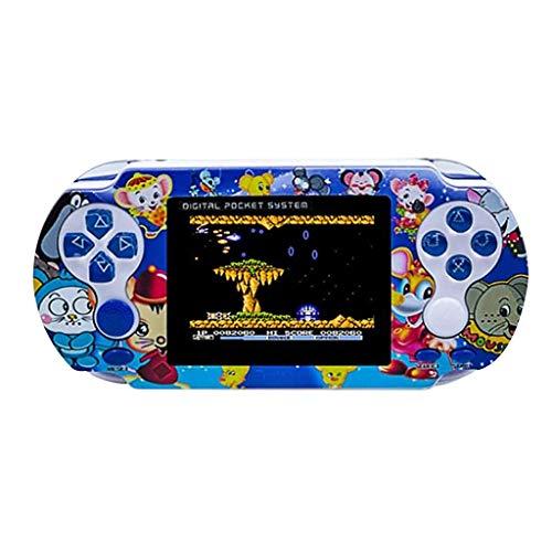 Webla Console de Jeu de Poche Portable Rétro Classique 500 Intégré 3,0 Pouces Jeux Jouets pour Enfants Adultes (Bleu)