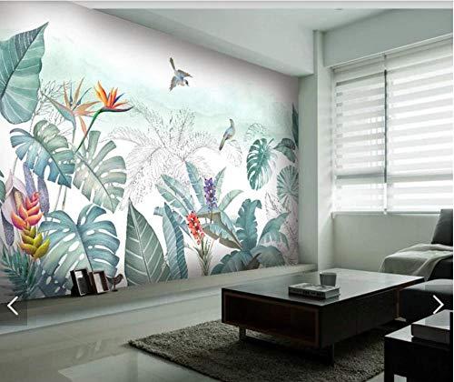 3D vliesbehang fotobehang premium fotobehang tropische bloem vogel behang wandschilderij fotobehang wanddecoratie schilderij voor de woonkamer bloemen papier 400*280 400 x 280 cm.