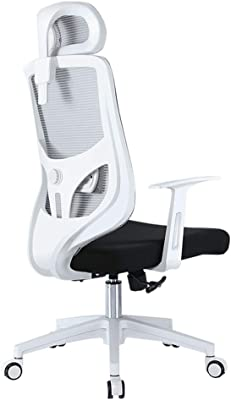 LJFYXZ Mesh High Back Swivel Office Chair Game Chair 130° tiltable Design Adjustable headrest Multifunctional