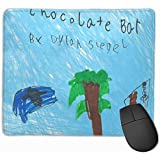 Cute Gaming Mouse Pad, Desk Mousepad, Mouse Mat Book Cool Fun Durable Chocolate Bar Travel Hand Market