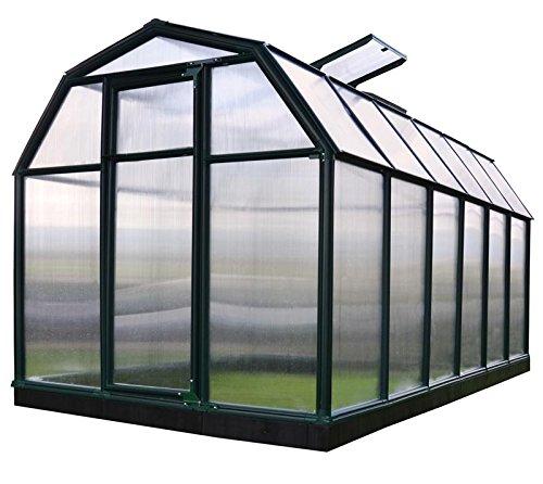 RION Gewächshaus Gartenhaus Kunststoff SMART 37 // 449x204x198 cm (LxBxH) // Treibhaus & Tomatenhaus zur Aufzucht