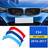 M-Colored Grille Insert Trims Compatible with 2013-up BMW F34 3 Series Gran Turismo 3GT Hatchback Front Center Kidney Grilles (9 Beams)