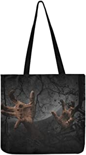 The Magic Forest Is Frightening At Night Canvas Tote Handbag Shoulder Bag Crossbody Bags Purses For Men And Women Shopping...