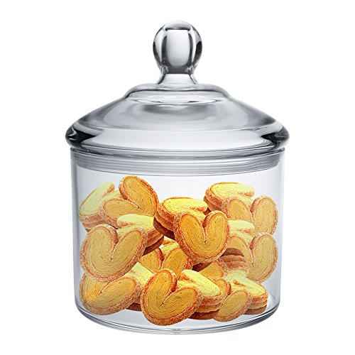 Cookie Jar, Vinkoe Kitchen Clear Acrylic Airtight Jar for Nuts, Cookies, Candy, Chocolate, 40 OZ