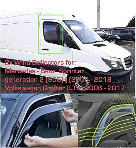Windabweiser für Mercedes Benz Sprinter 2006–2018, VW Volkswagen Crafter 2006–2017, 2 Stück