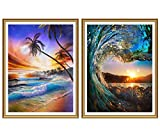 Yomiie 5D Diamond Painting Sunrise Beach & Sunset Spindrift Full Drill by Number