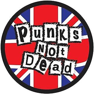 OTA Sticker Punks NOT Dead (2PACK) Brand Music Rock Heavy Metal Emo Logo Scrapbook Window Helmet Motorcycle Chopper Door Skateboard CAR Laptop Notebook Luggage Cell Phone Tablet Mirror Symbol Decal