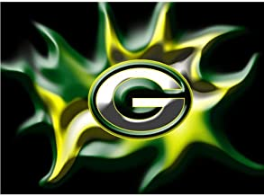 Diamond Painting Full Square/Round Drill Green Bay Packers Team Logo American Football 5D Diamond Painting Mosaic Cartoon-30x40cm