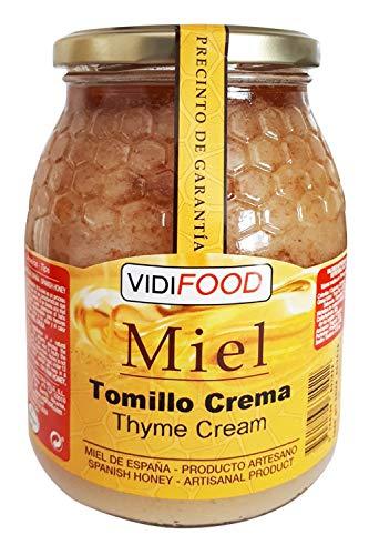 Miel de Tomillo Crema - 1kg - Producida en España - Alta Calidad, tradicional & 100% pura - Aroma Floral y Sabor Rico y Dulce - Amplia variedad de Deliciosos Sabores
