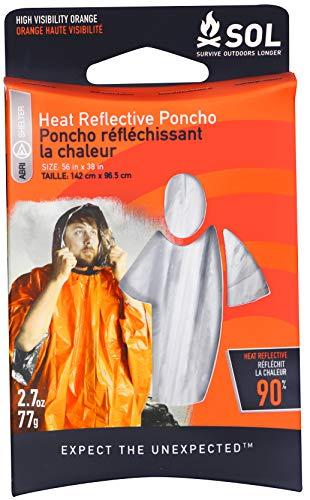 S.O.L. Survive Outdoor Poncho réfléchissant à la chaleur