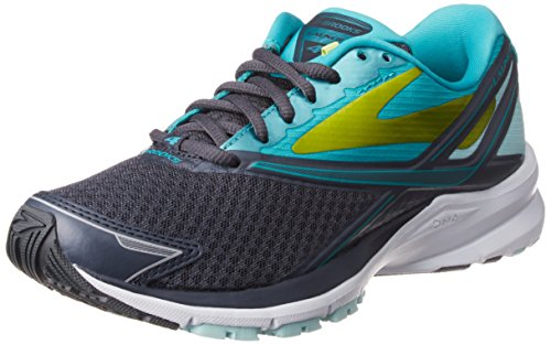 Brooks Womens Launch 4 Running Sneaker Shoe, Anthracite/Ceramic/Lime Punch, 8.5